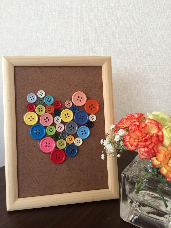 カラフルボタン大好き!子供と一緒にボタンアート作り