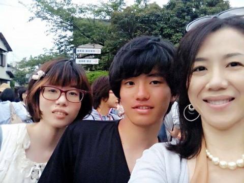 由紀さん家族